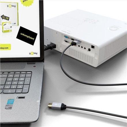 Goobay Plus DisplayPort To HDMI Cable Gray 2m