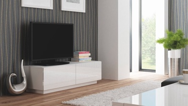 TV-laud Halmar Livo RTV 160S Glossy White, 1600x400x380 mm