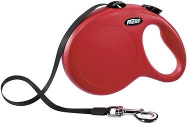 Поводок Flexi Classic Tape L, черный/красный, 8 м