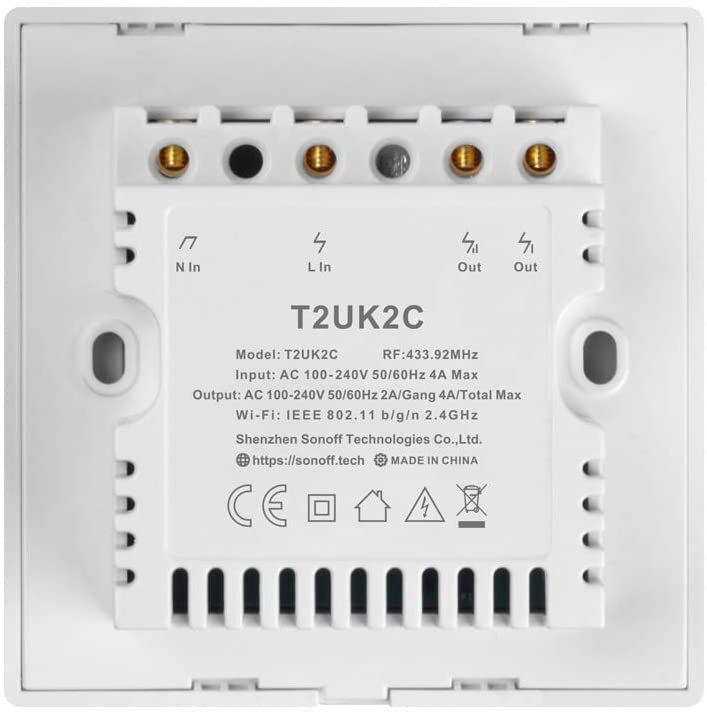 Slēdzis Sonoff Smart T2 EU TX 2