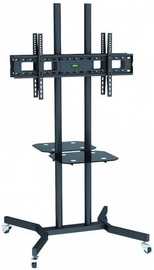 Televizoriaus laikiklis Techly Double-Sided Mobile Stand For TV LCD/LED/Plasma 37''-70'' Black