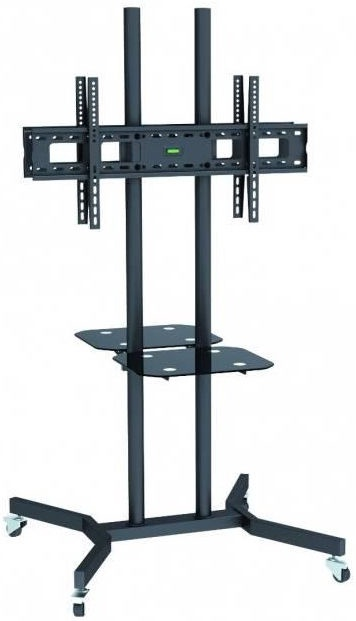 Televizoriaus laikiklis Techly Double-Sided Mobile Stand For TV LCD/LED/Plasma 37''-70'' Black