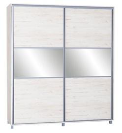 Skapis Bodzio SZP180 Sonoma Oak Pearl, 180x60x210 cm, with mirror