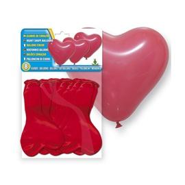 Balionai, širdies formos, raudoni 8 vnt