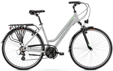 "Велосипед Romet Gazela 1 Light Gray/Green 2021, 19"", 28″"