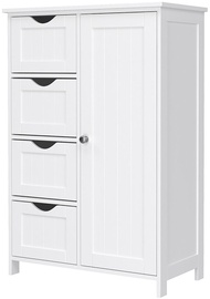 Songmics Vasalge Side Drawers Storage Cabinet 50x30x81cm White