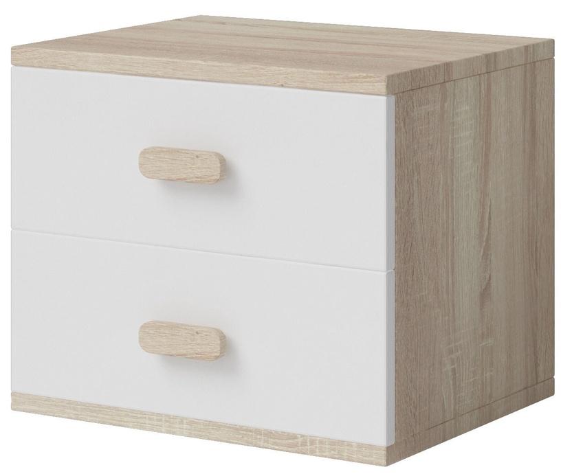 Naktinis staliukas Idzczak Meble Smyk III 22 White/Sonoma Oak