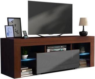 TV-laud Pro Meble Milano 130 With Light Walnut/Grey, 1300x350x450 mm