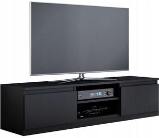 TV galds Top E Shop 140, melna, 1000x400x360 mm