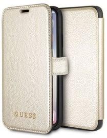Guess Iridescent GUFLBKPXIGL Book Case For Apple iPhone X/XS Gold