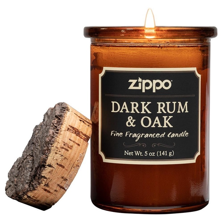 Ароматическая свеча Zippo Spirit Candle Dark Rum And Oak