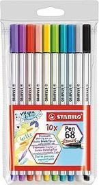 Pastakas Stabilo Pen Brush 68, mitmevärviline, 10 tk