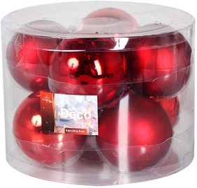 Verners Christmas Balls Red 8cm 8pcs