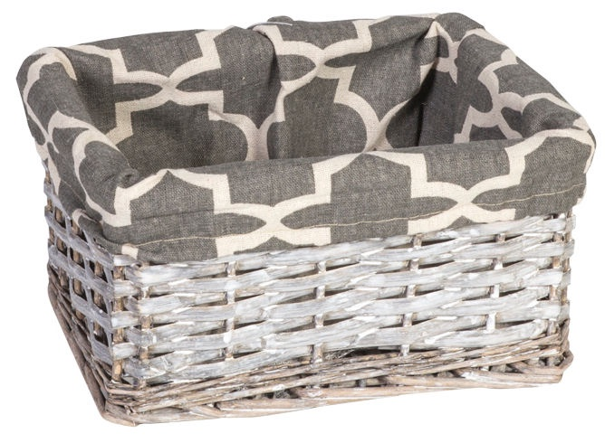 Home4you Basket Max 5 24x18xH12cm Grey