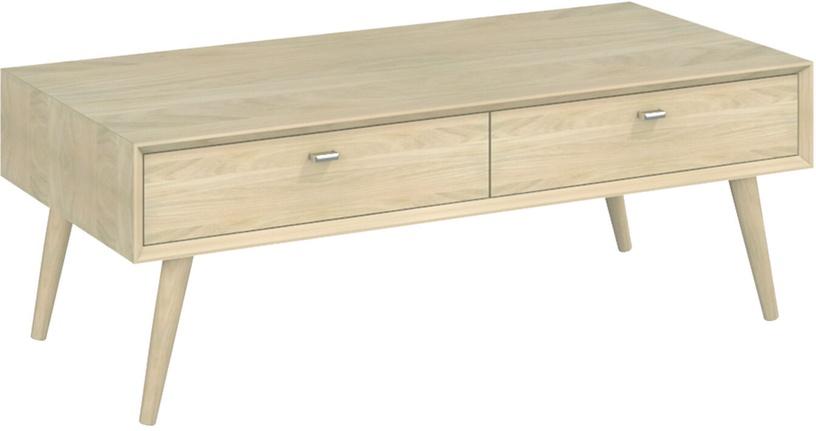 Kafijas galdiņš Home4you Riga 21408, ozola, 1100x550x420 mm
