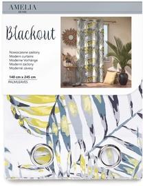 Nakts aizkari AmeliaHome Blackout Palm Leaves, 1400x2450 mm