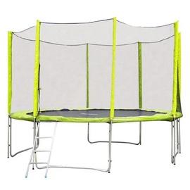 inSPORTline Froggy Pro Trampoline Set 366cm Green