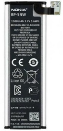 Nokia BP-5NW Original Battery Li-Ion 1500mAh MS