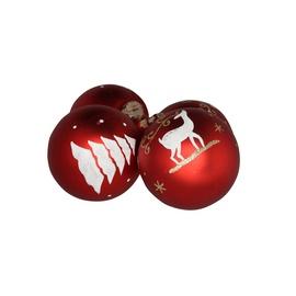 Jõuluehete komplekt Christmas Touch, Ø 8 cm, 4 tk