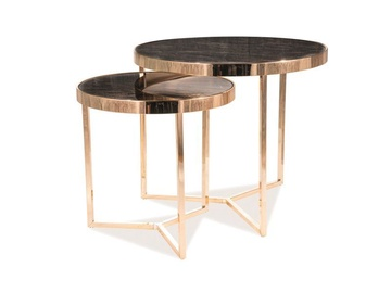 Signal Meble Delia II Coffee Table Set Marble/Gold