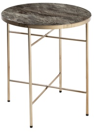 Kafijas galdiņš Home4you Astoria Marble/Champagne, 420x420x510 mm