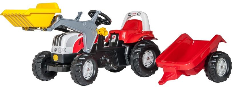 Rolly Toys Kid Steyr 6165 CVT Shovel/Trailer White/Red 023936