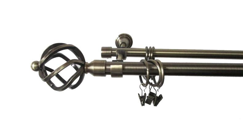Aizkaru stangas komplekts  Futura D19, 2-rindu, 300cm, zelta