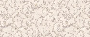 Tapetas flizelino pagrindu Stenova 889112 Laura, gelsvas su pilkomis gėlėmis, 1.06 m
