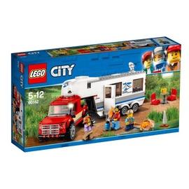 Konstruktorius LEGO City, Pikapas ir namelis ant ratų 60182