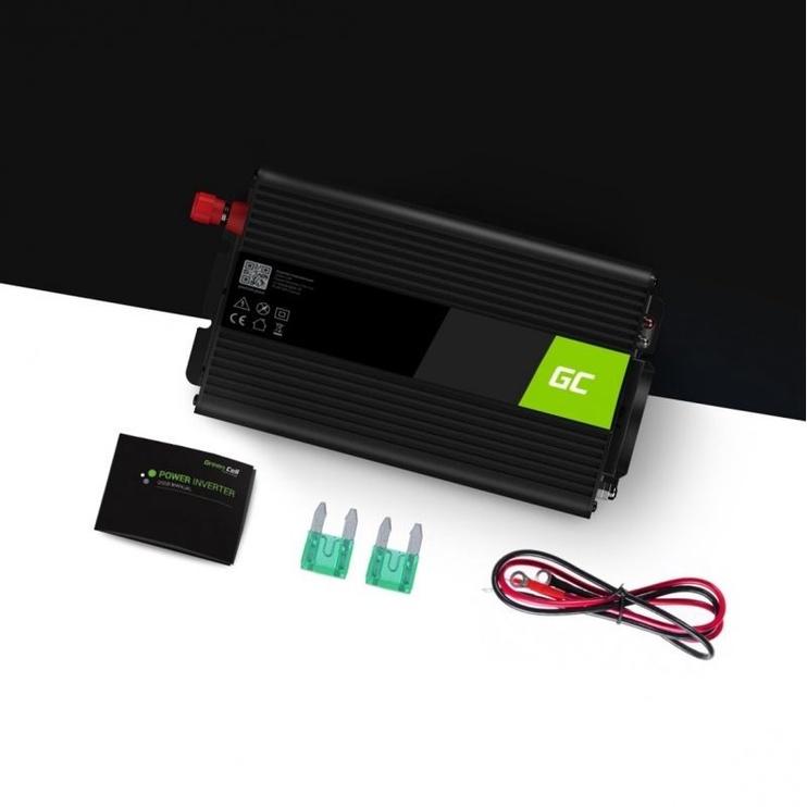 Sprieguma pārveidotājs Green Cell Car Power Inverter Converter 12V to 230V 300W/600W