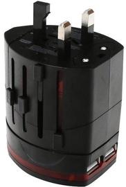 Üleminek Omega Travel Power Adapter + USB