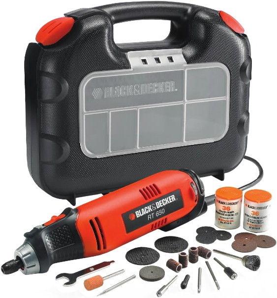 Black & Decker RT650KA Straight Grinder + Accessories