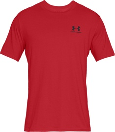 Under Armour Mens Sportstyle Left Chest SS Shirt 1326799-600 Red L
