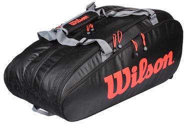 Спортивная сумка Wilson Tour 3 Comp Clash, черный/красный/серый