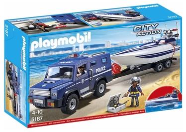 Konstruktor Playmobil City Action politseiauto kiirpaadiga