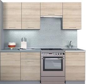 Virtuvės baldų komplektas MN Simpl Shimo Light, 2.1 m