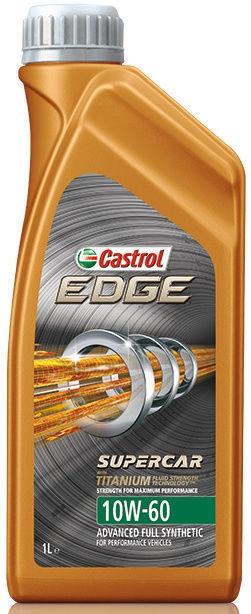 Машинное масло Castrol Edge Titanium FST Supercar 10W - 60, синтетический, для легкового автомобиля, 1 л