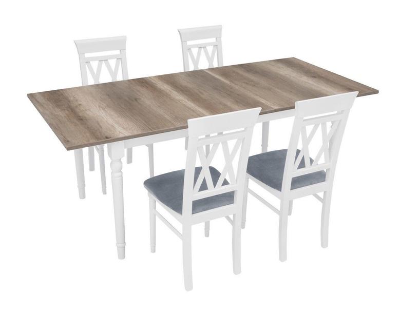 Стул для столовой Black Red White Cannet White/Grey, 1 шт.