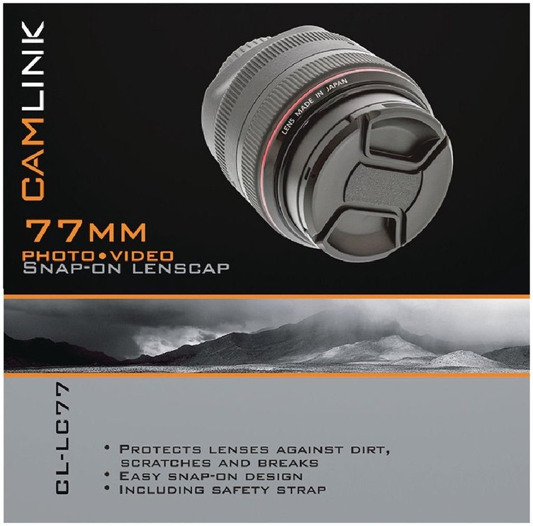 CamLink Snap-On Lens Cap 77mm