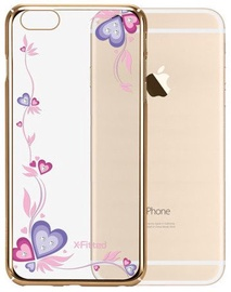 X-Fitted Purple Dreams Swarovski Crystals Back Case For Apple iPhone 6/6s Gold