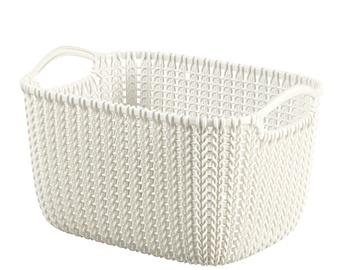 Curver Knit S Rectangular Basket White
