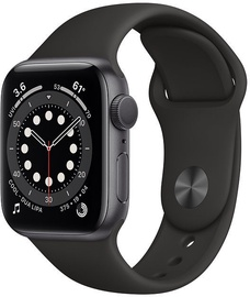 Išmanusis laikrodis Apple Watch Series 6 GPS 44mm Space Gray Aluminum Black Sport Band
