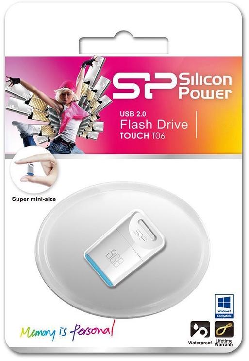 USB atmintinė Silicon Power Touch T06 White, USB 2.0, 32 GB