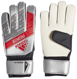 Adidas Predator Top Training Gloves Silver/Red DY2606 Size 9