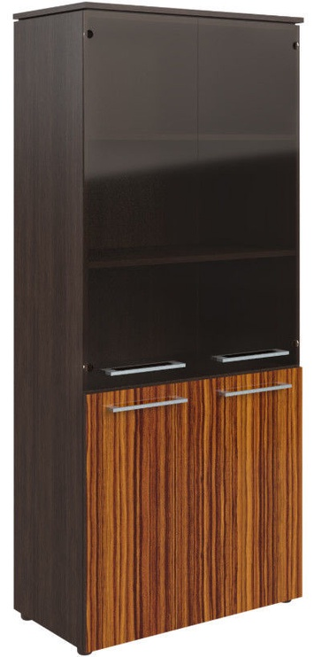 Skyland Morris MHC 85.2 Office Wardrobe 85.4x195.6x42.3cm Wenge Magic/Macassar