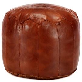 Пуф VLX Goat Leather 248129, коричневый, 40 см x 40 см x 35 см