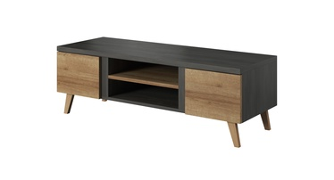 TV galds Idzczak Meble Laos 08 Black Pine/Riviera Oak, 1400x500x500 mm
