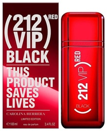 Parfimērijas ūdens Carolina Herrera 212 Red VIP Black Limited Edition 100ml EDP