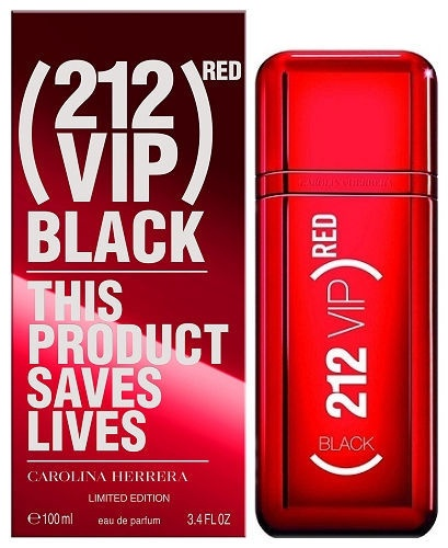 Parfimērijas ūdens Carolina Herrera 212 Red VIP Black Limited Edition 100ml EDP
