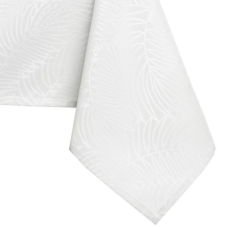 Скатерть AmeliaHome Gaia HMD White, 120x220 см